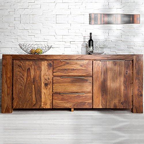 cag xxl sideboard agra aus sheesham massiv holz gewachst 180cm m bel24. Black Bedroom Furniture Sets. Home Design Ideas