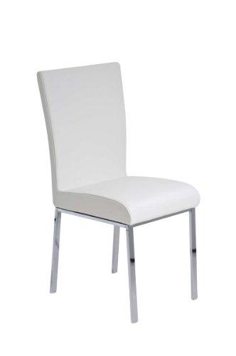 CLP Esszimmerstuhl LILLY, mit 4 Beinen, weich und dick gepolstert, Sitzhöhe 48 cm Weiß