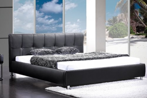 design bett laredo schwarz 180x200cm m bel24. Black Bedroom Furniture Sets. Home Design Ideas