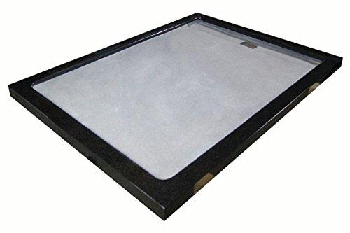 duschwanne aus naturstein mit edelstahlgitter granit 120 90cm india black schwarz m bel24. Black Bedroom Furniture Sets. Home Design Ideas