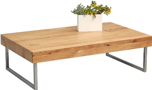 HomeTrends4You 265822 Couchtisch, 120 x 35 x 75 cm, Wildeiche massiv geölt
