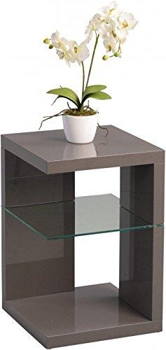 HomeTrends4You 516653 Beistelltisch/Nachttisch Domingo, 40x60x40cm, anthrazit Hochglanz