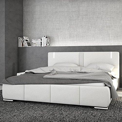 Innocent Polsterbett aus Kunstleder weiß 180x200cm mit LED und Lautsprecher Ricci Boxspringbett