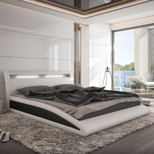 Innocent Polsterbett weiß/schwarz mit Kunstleder Bezug Balisani 140x200 cm