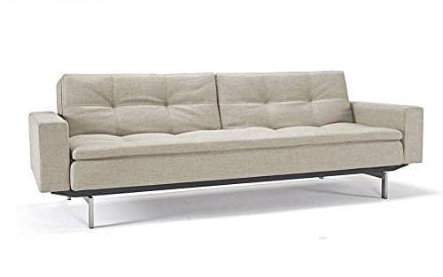 Innovation - Dublexo Schlafsofa mit Armlehnen - natural - Mixed Dance - Chrom - Per Weiss - Design - Sofa