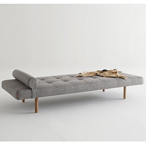 Innovation Klappsofa Napper Stem, Helles Holz 521 Grey