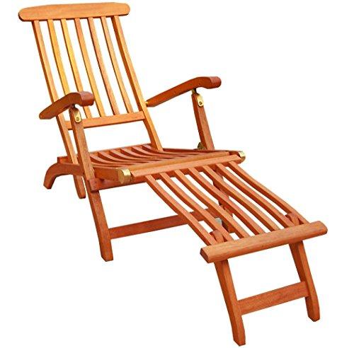KMH®, Deckchair aus Eukalyptusholz (ohne Auflage)