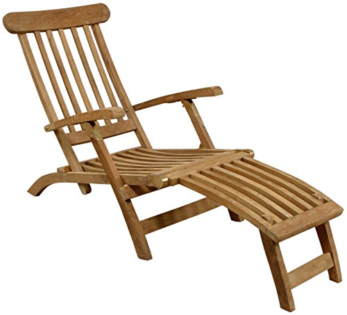 liegestuhl aus massivem teakholz deckchair gartenliege liege teak m bel24. Black Bedroom Furniture Sets. Home Design Ideas