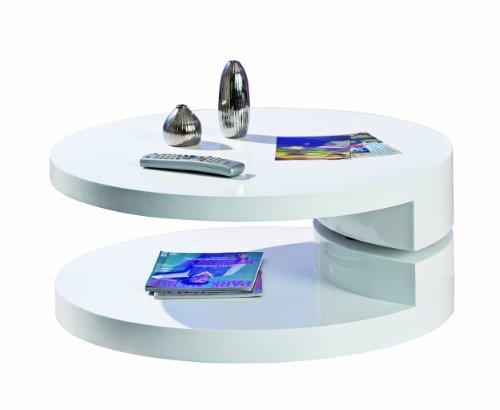Inter Link Links 20800930 Couchtisch weiß hochglanz Wohnzimmertisch Wohnzimmer Tisch Design modern 80x80