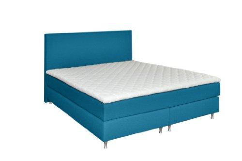 WELCON Luxus Boxspringbett 180x200 H3 inkl. Topper blau - Continentalbett Premiumklasse für 5 Sterne Hotels - günstig direkt vom Importeur