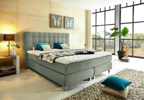 luxus boxspringbett 180x200 h2 h3 f r eine person h2 f r die andere person h3 inkl topper. Black Bedroom Furniture Sets. Home Design Ideas