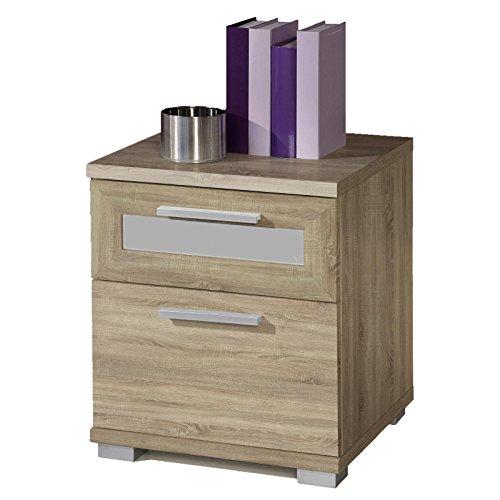 CARO-Möbel Nachttisch Nachtschrank Nachtkommode ANIKA, in Sonoma Eiche, mit 2 Schubladen