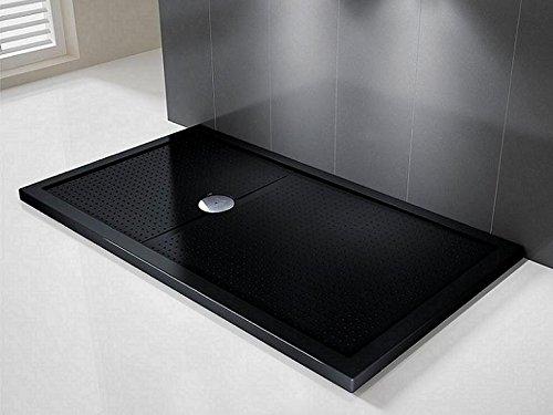 Novellini Olympic Plus Duschwanne, 120x90x4,5cm, schwarz