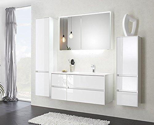 PELIPAL SOLITAIRE 6010 3 tlg. Badmöbel Set / Waschtisch / Unterschrank / Spiegelschrank inkl. LED /