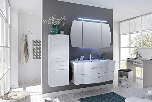PELIPAL SOLITAIRE 6020 3 tlg. Badmöbel Set / Waschtisch / Unterschrank / Spiegelschrank / Confort N