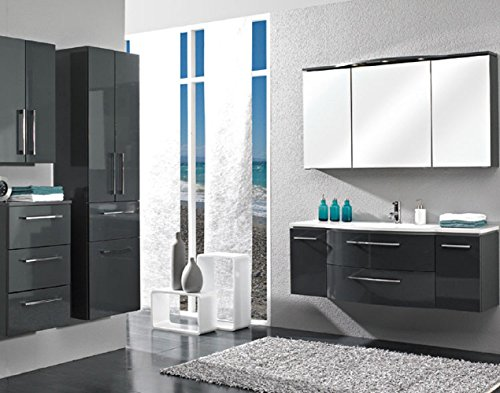Pelipal Lunic 3 tlg. Badmöbel Set / Waschtisch / Unterschrank / Spiegelschrank