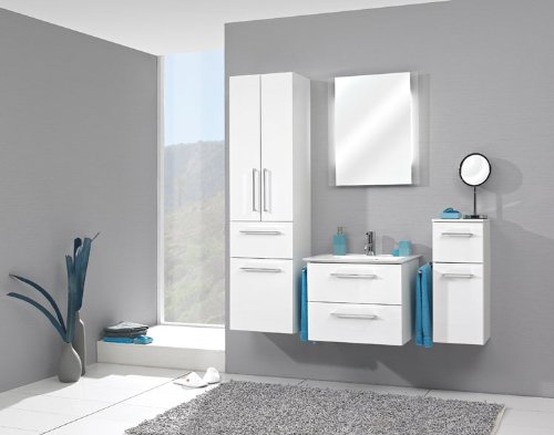 Pelipal Sonic 3 tlg. Badmöbel Set / Waschtisch / Unterschrank / Funktionsspiegel