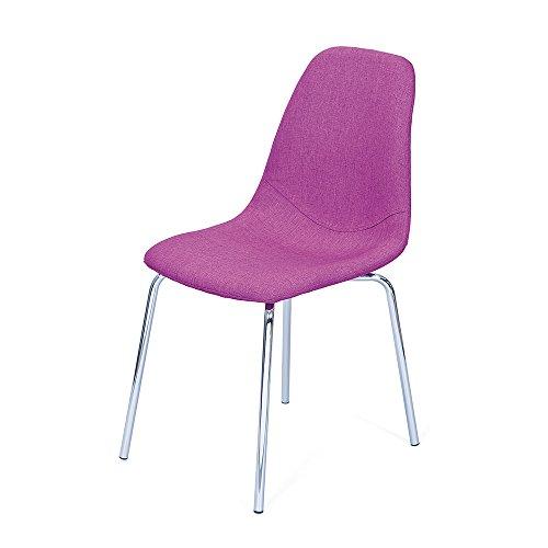 Retro Stuhl in Pink modern (4er Set) Pharao24