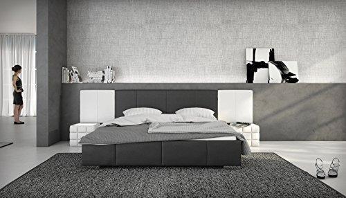 SAM® Design Polsterbett Natal in schwarz - weiß 180 x 200 cm ohne Soundsystem abgestepptes Design pflegeleicht wahlweise mit integriertem Soundsystem im Kopfteil