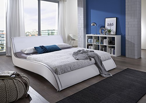 SAM Design Polsterbett 140x200 cm Suva in Weiß