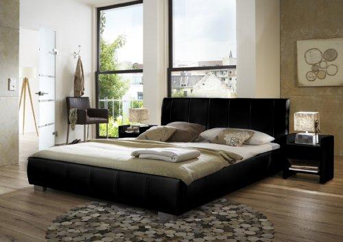 SAM® Polsterbett Innocent Latina 200 x 220 cm schwarz im modernen abgesteppten Design Wasserbett geeignet