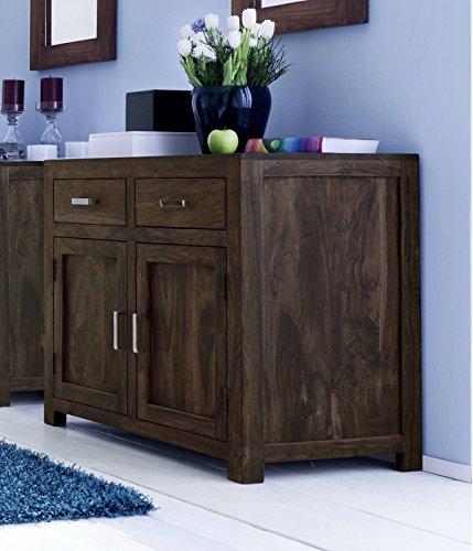 SAM® Wales 1509 Sideboard aus stonefarbenem Palisander Massivholz Handgearbeitet zwei Türen zwei Schubladen 95cm Breite