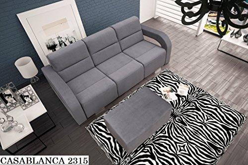 SOFA Couch mit Schlaffunktion Couch Polstergarnitur Wohnlandschaft - ALISS