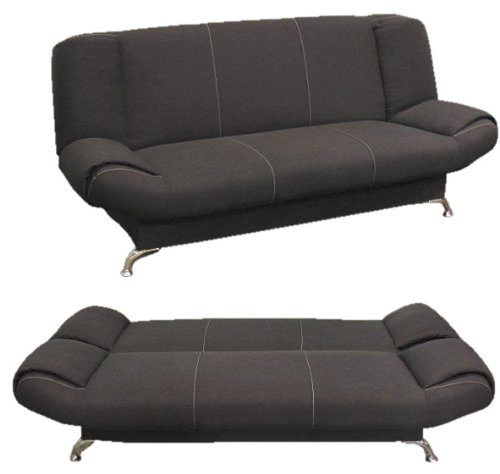 schlafsofa schlafcouch mit bettkasten bettsofa schlafsofa largo schwarz neu m bel24. Black Bedroom Furniture Sets. Home Design Ideas
