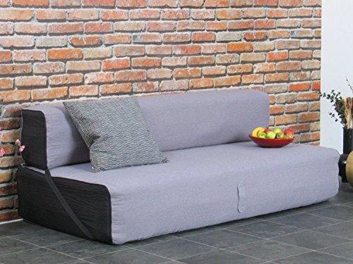 Schlafsofa Virgo Schlafcouch Klappsofa Bett Gästebett Sofa Couch grau schwarz