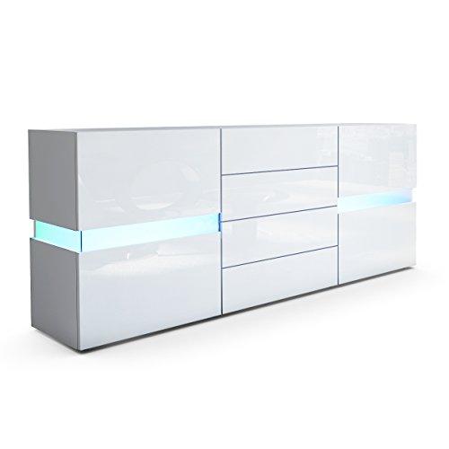 sideboard kommode flow korpus in wei matt wei hochglanz m bel24. Black Bedroom Furniture Sets. Home Design Ideas