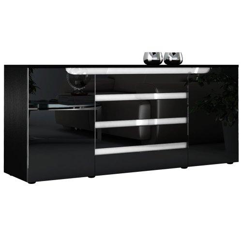 sideboard kommode sylt v2 korpus in schwarz matt front. Black Bedroom Furniture Sets. Home Design Ideas