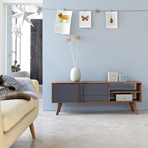 TV Unterschrank TV Möbel Hifi Lowboard Sideboard 150 cm Palisander Vintage 50ger