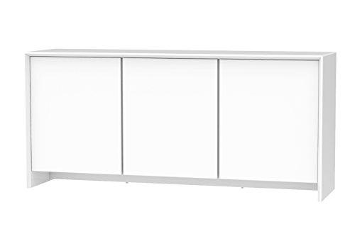 Tenzo 5933-001 Profil Designer Sideboard, 80 x 173 x 47 cm, weiß