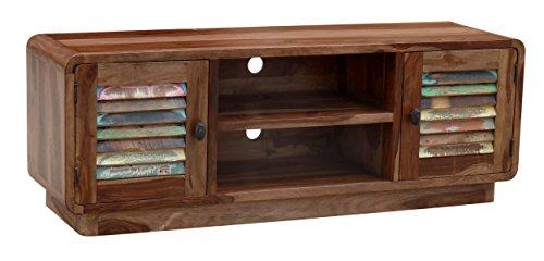 the wood times lowboard tv m bel massiv vintage look sheesham massiv holz bxhxt 140x50x40 cm. Black Bedroom Furniture Sets. Home Design Ideas