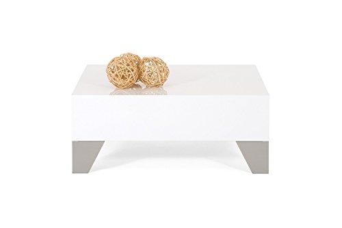 mobilifiver Evo 60Couchtisch, Holz, Weiß glänzend, 60x 60x 24cm