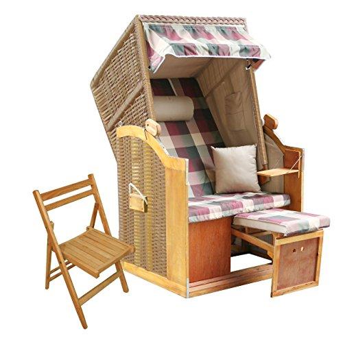das wohnwerk Strandkorb Ostsee S Single Exklusiv für Amazon im Komplettset - mit 2 Kissen!