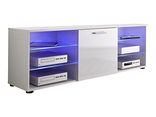 trendteam MDT32001 TV-Lowboard Weiß Hochglanz, BxHxT 150 x 50 x 36 cm