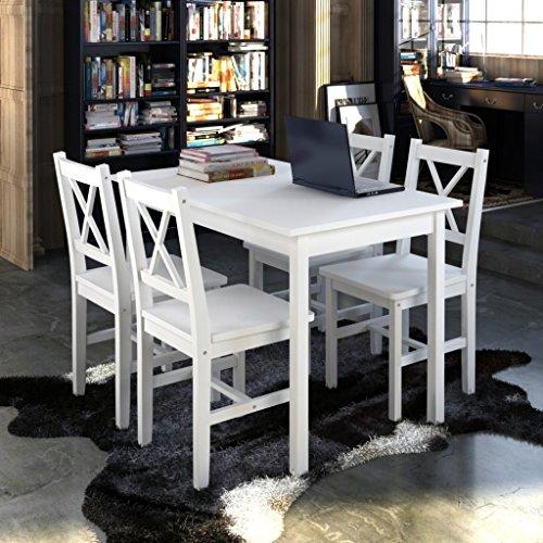 vidaXL Holztisch Esstisch Sitzgruppe Tischset Esszimmer Esstischset Tisch Stühle