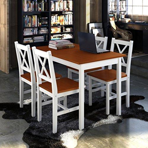 vidaXL Holztisch Esstisch Sitzgruppe Esszimmer Esstischset Tischset Tisch Stühle