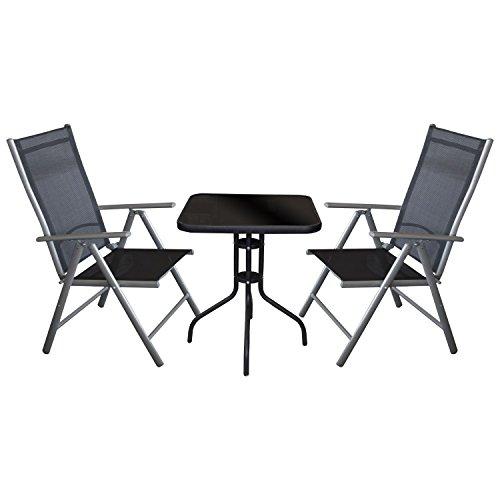 3tlg bistrogarnitur bistro set balkonm bel terrassenm bel. Black Bedroom Furniture Sets. Home Design Ideas