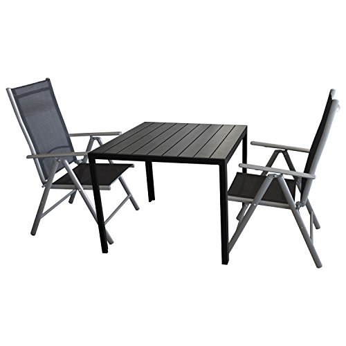 3tlg sitzgarnitur sitzgruppe bistrogarnitur bistro set. Black Bedroom Furniture Sets. Home Design Ideas