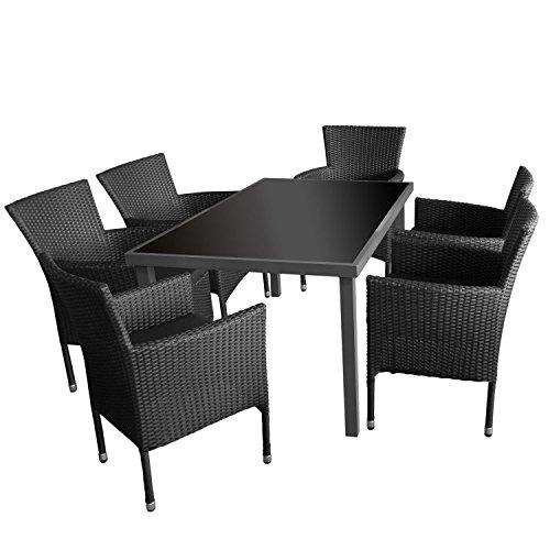 7tlg gartengarnitur gartentisch aluminiumrahmen. Black Bedroom Furniture Sets. Home Design Ideas