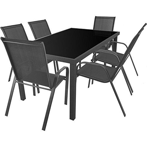 multistore 2002 7tlg sitzgarnitur sitzgruppe gartenm bel balkonm bel terrassenm bel set. Black Bedroom Furniture Sets. Home Design Ideas
