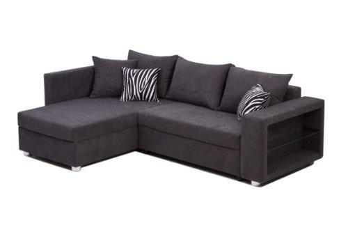 b famous polsterecke passau led rgb schenkelma 226 x 162 cm mikrovelours grau m bel24. Black Bedroom Furniture Sets. Home Design Ideas