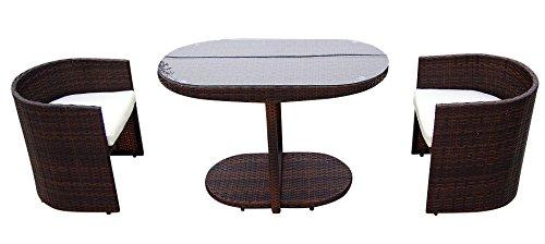 baidani sitzgruppe space rattan 3 teilig braun m bel24. Black Bedroom Furniture Sets. Home Design Ideas