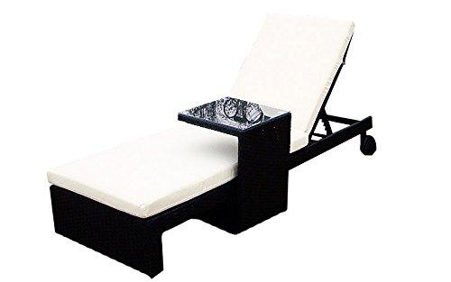 Baidani Gartenmöbel-Sets 10b00006.00002 Designer, Lounge-Liege Holiday, Liege, Beistelltisch, Auflage, braun