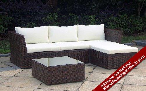 Baidani Starlight Rattan Lounge-Garnitur, braun, 95 x 95 x 66 cm