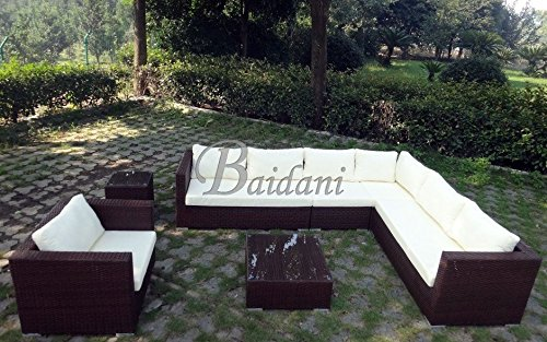 baidani rattan garten lounge garnitur destiny braun. Black Bedroom Furniture Sets. Home Design Ideas