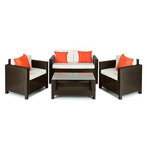 blumfeldt verona lounge gartengarnitur sitzgruppe 2 x. Black Bedroom Furniture Sets. Home Design Ideas