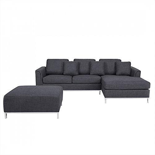 designersofa polstersofa sofa couch ecksofa l eckcouch grau oslo m bel24. Black Bedroom Furniture Sets. Home Design Ideas